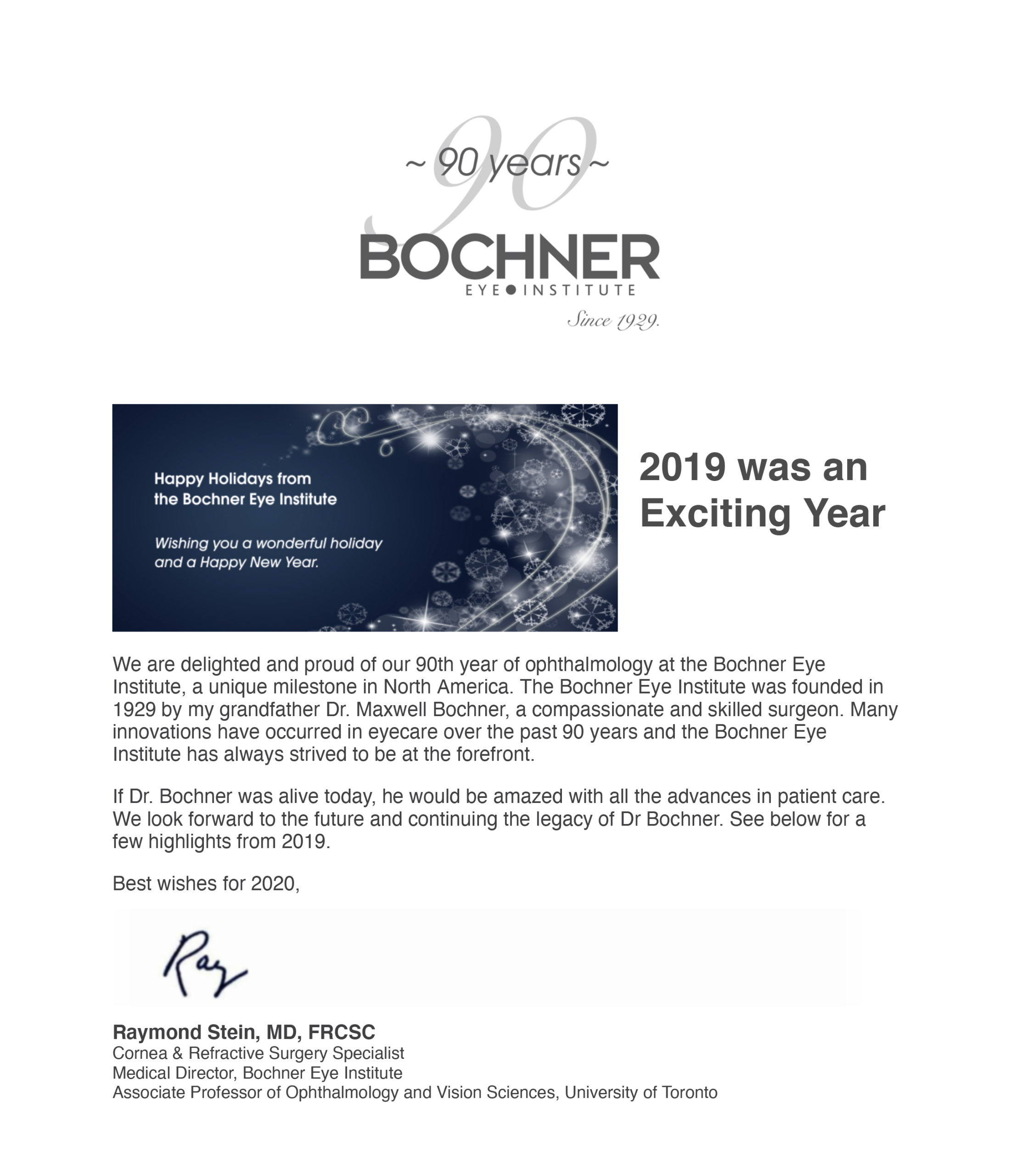 2019 Bochner Eye Institute Recap